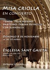Flyer Misa Criolla Sant Gaietà