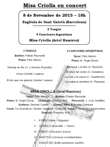 Programa Misa Criolla 081115 P1