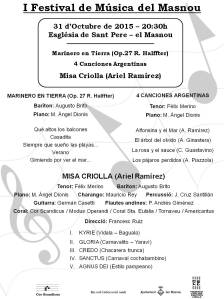 Programa Misa Criolla P1