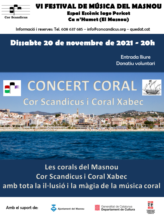 Cartell-Concert Coral